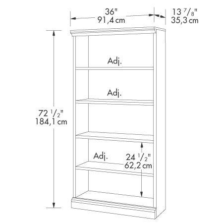 sauder camden county 5 shelf bookcase 101785