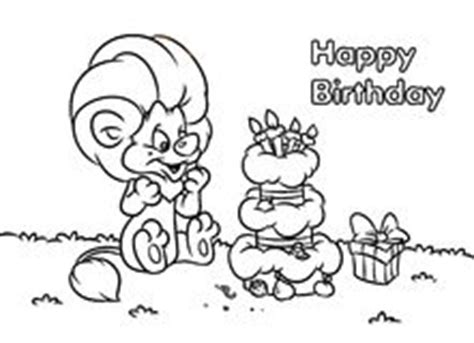 birthday lion coloring page happy birthday coloring illustration stock photography