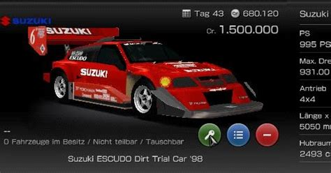 Suzuki Escudo Rally Car Psp Fuhrpark Suzuki Escudo Dirt Trial Car 98