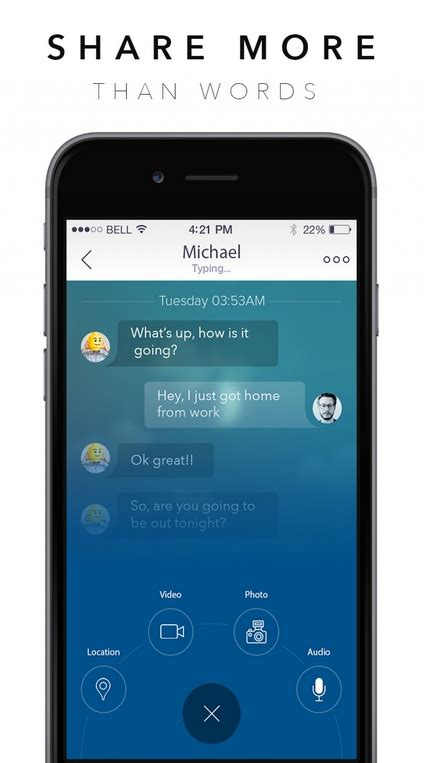 messenger for chat for mobile social messenger chat mobile app for ios 2016 kappa