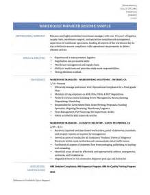 Data Warehousing Resume Sample warehouse manager resume samples template and tips