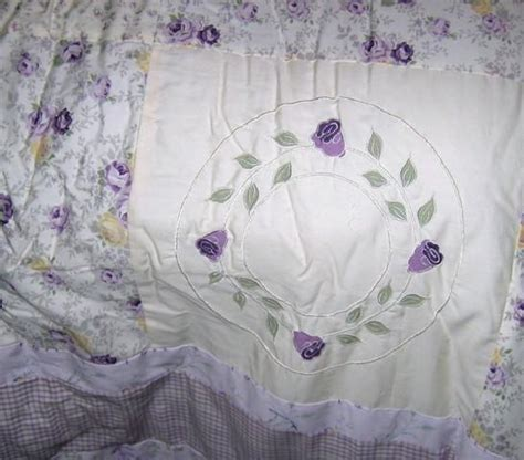 lavender roses armoire julia nip shabby to chic twin 3 pc cotton comforter set ebay