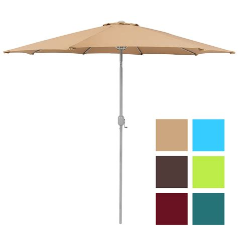 Patio Umbrella 9 Aluminum Patio Market Umbrella Tilt W Outdoor Patio Umbrella
