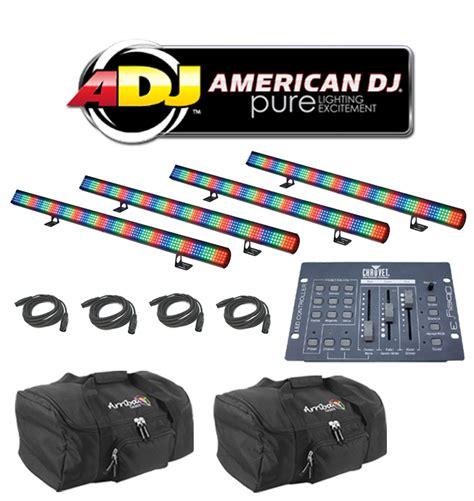 american dj mega pixel led light bar american dj 4 mega pixel led color mixing wash light bar