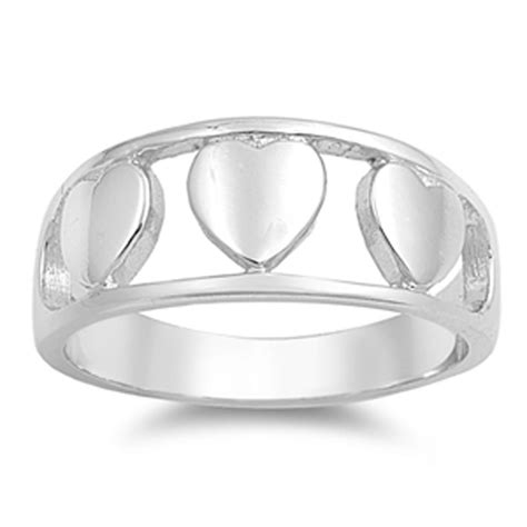 sterling silver s plain promise ring polished
