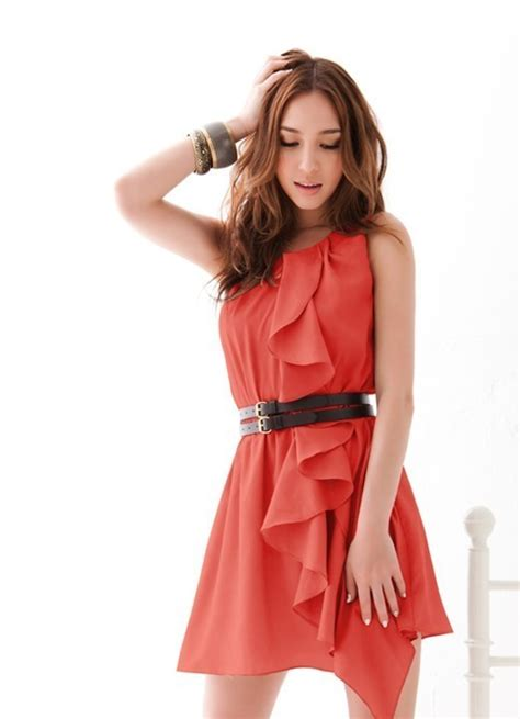 Dress Import dress import merah modis model terbaru jual murah import kerja
