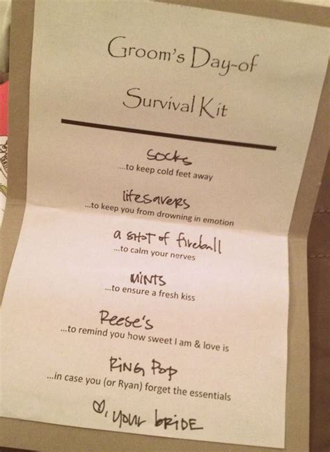 Best 25  Groom survival kits ideas on Pinterest   Groom