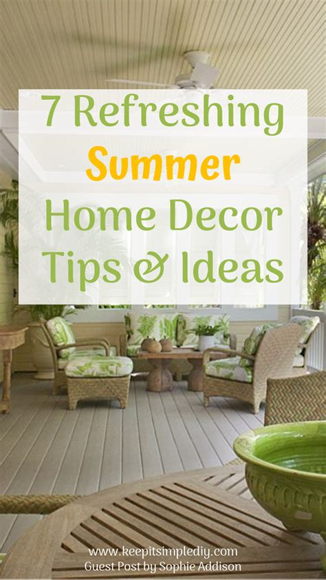 refreshing summer home decor tips ideas