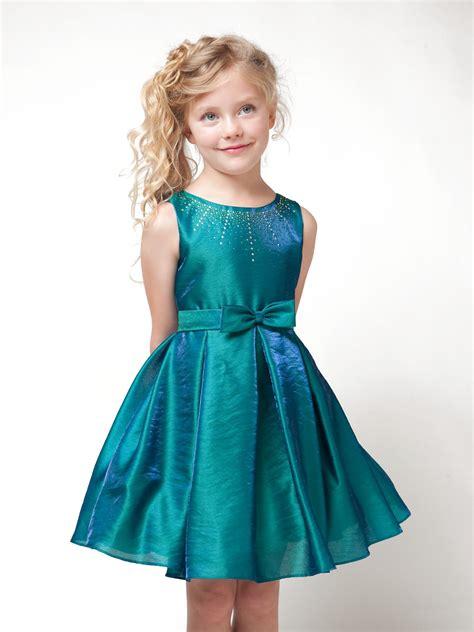 chik dress embellished neckline flower dress with blue bowcherry