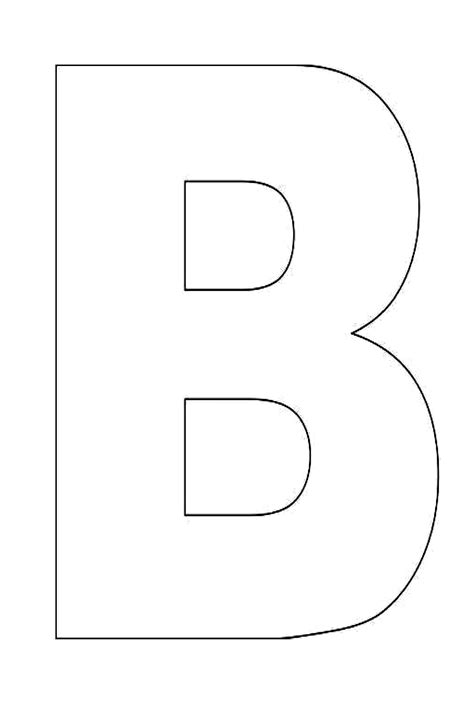 printable large letters alphabet letter b template for kids 000 teaching 2 3