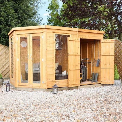 mercia corner summerhouse  side storage shed