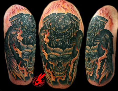 v twin tattoo designs harley v skull by jackie rabbit by