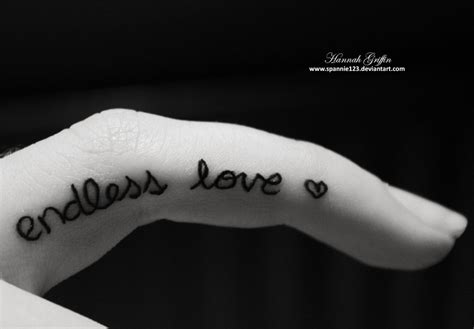 endless love tattoo 36 side finger tattoos