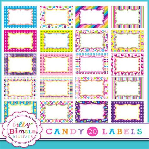 printable lollipop tags candy labels frames 20 g candyland labels for by