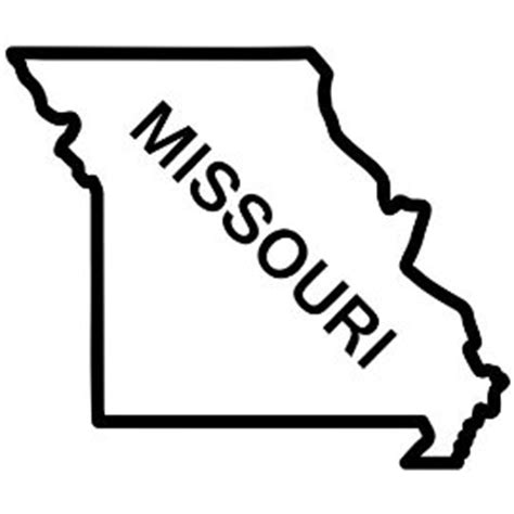 Missouri State Outline by Outline Of Missouri Clipart Best