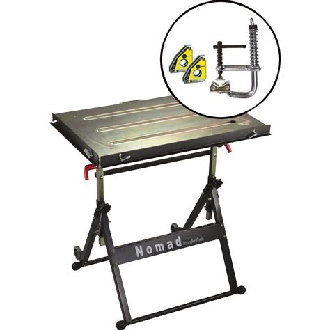 harbor freight welding table tools nomad welding table with magspring cl