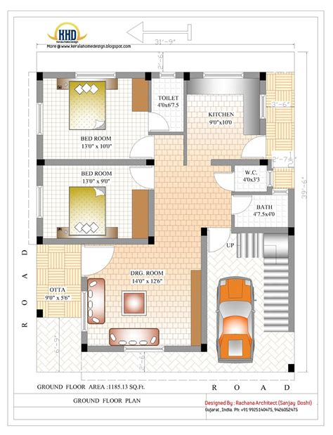 Floor Plans For Indian Homes | 2370 sq ft indian style home design home appliance