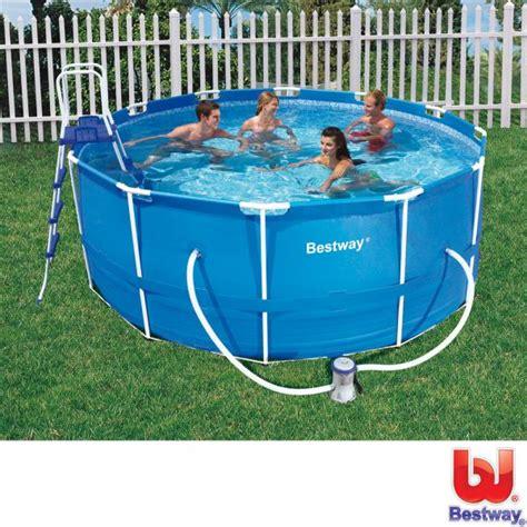 stahlrahmen pool überwintern bestway stahlrahmen pool 366x122 cm komplett set