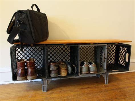 Milk Crate Furniture by Meuble 224 Chaussures Shoesing Home Diy Plastic