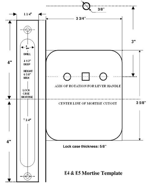 lock templates 11 installation and documentation keyless entry locks