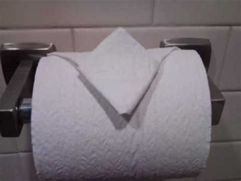 Fancy Toilet Paper Folding - toilet paper origami