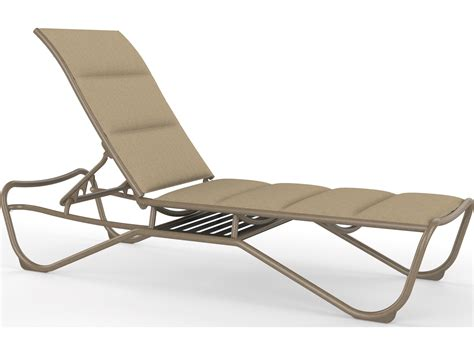 aluminum sling chaise lounge tropitone milennia padded sling aluminum armless chaise