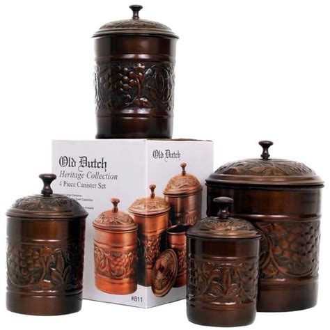 antique copper canister set shopperschoice
