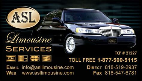 Limousine Business Card Design