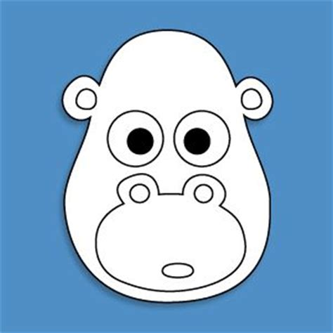 printable gorilla mask free 257 best images about general zoo crafts on pinterest