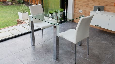 glass top kitchen table and chairs stylish small dining set chrome and clear glass modern