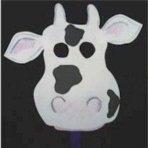 fil a cow mask template crafts a cow and the kid on