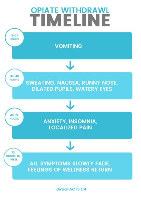 Opiate Detox Symptoms by Opiate Withdrawal Symptoms Timeline A Chart Facts