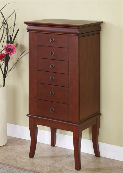 powell cherry jewelry armoire powell louis philippe marquis cherry jewelry armoire 508