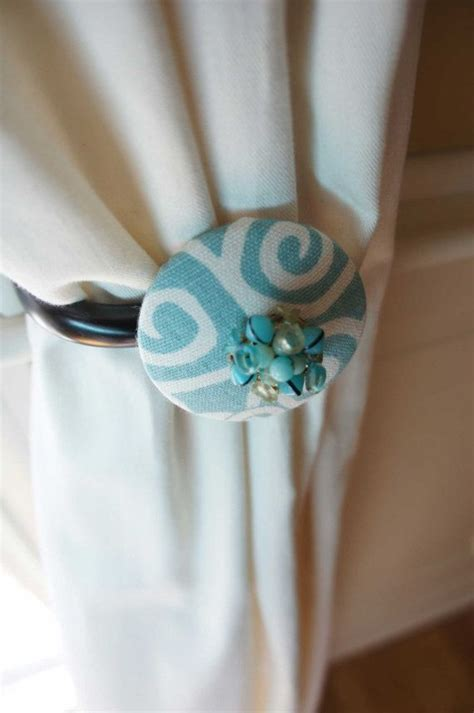 jewelry curtains infinity curtain tie backs tieback aqua swirl with vintage