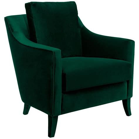 green armchairs british green armchair in cotton velvet for sale at 1stdibs