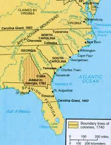 carolina colony map riggioclass southern colonies
