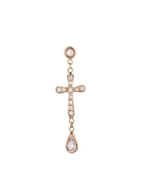 Cross Single Earring cross single stud earring 2018 jewelry
