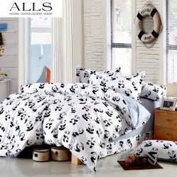 Panda Bed Set Black And White Bedding Set Panda 100 Cotton Bed Sheet