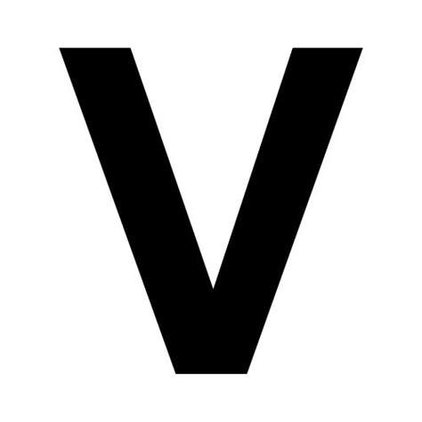 Black V letter v dr