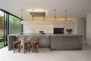Kitchen Island Worktops Uk Concrete Worktops And Flooring Are Perfect For Industrial