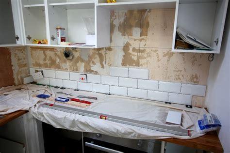 kitchen white brick tiles my kitchen renovation part 4 tiling the walls tide