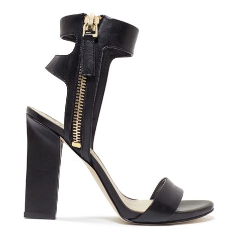 black sandals with ankle guess womens brodi ankle sandals in black lyst