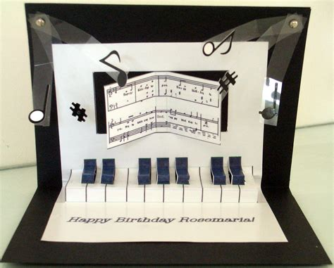grand piano pop up card template scrapbooking with a accent pop up piano birthday card