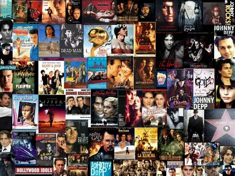 beautiful movie montage a wonderful montage picture of johnny depp and his movies