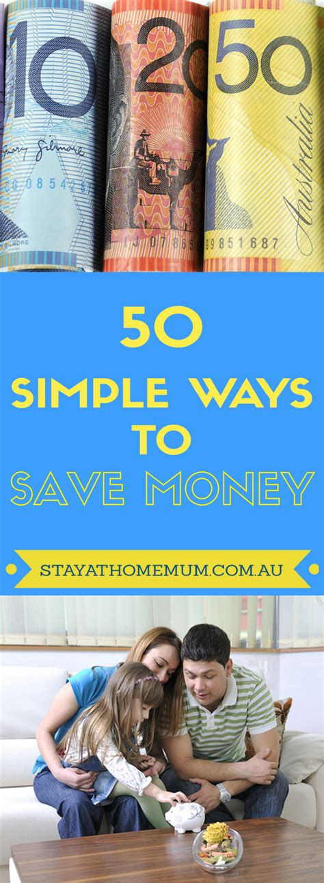 50 simple ways to save money stay at home mum