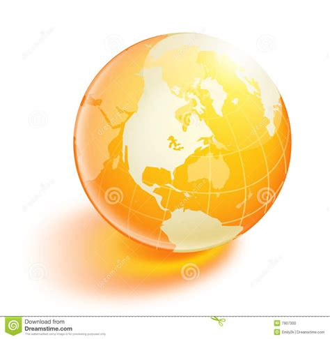 earthy orange crystal orange earth stock illustration image of ball