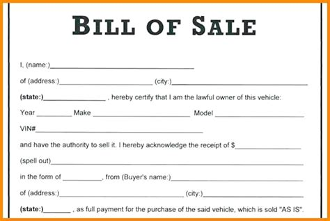how to write a bill of sale with pictures wikihow