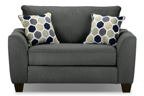 Gray Chair And A Half by Heritage Chair And A Half Grey S