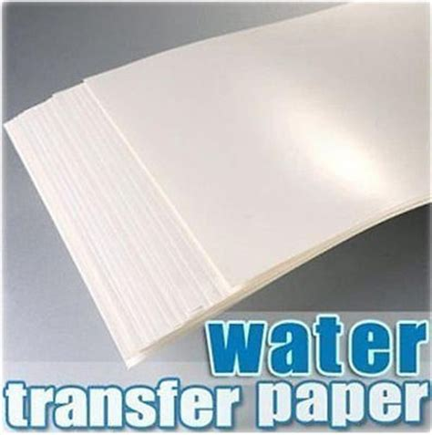 Craft Transfer Paper - 5pc a4 inkjet water slide decal paper craft transfer a4