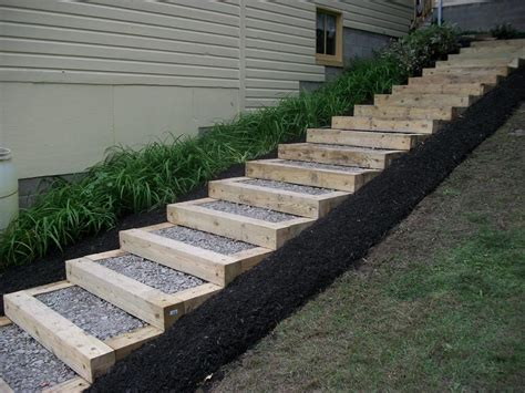 landscaping stairs landscape timbers home backyard pinterest petty